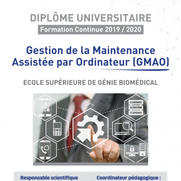 DU Gestion de la Maintenance Assistée par Ordinateur (GMAO)